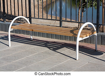 bench made of wood