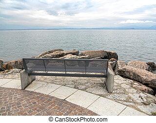 bench on lake