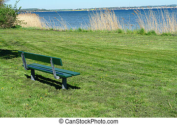 Bench over looking out to the sea