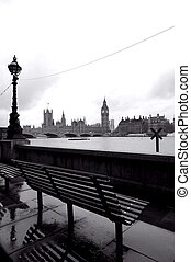 Bench overlooking big ben london