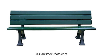 Bench - Wooden bench isolated over white background