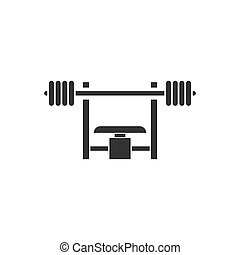 Bench Press with Barbel icon flat