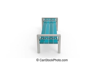 Bench rotates on white background