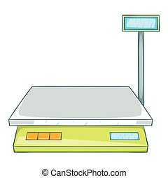 Bench scales icon, cartoon style