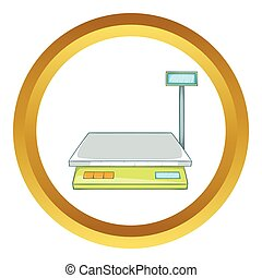 Bench scales vector icon