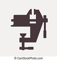bench screw tool icon