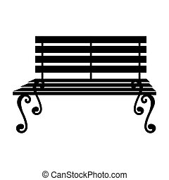 bench seat furniture icon vector