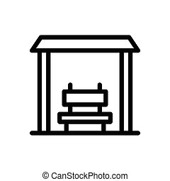 bench thin line icon