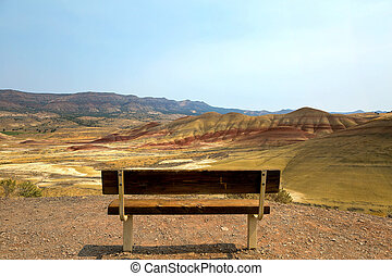 Bench View at Painted Hills Overlook