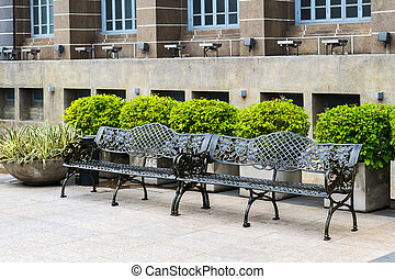 Bench with cast iron - Beautiful bench with cast iron