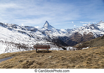 Bench with Matterhorn view