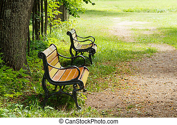 benches., 2, 庭