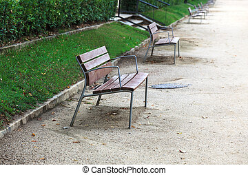 benches in the alley
