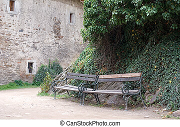 Benches in the castle