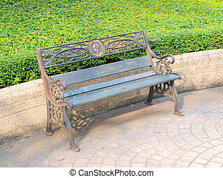 benches in the city park