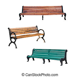 Benches isolated on the white