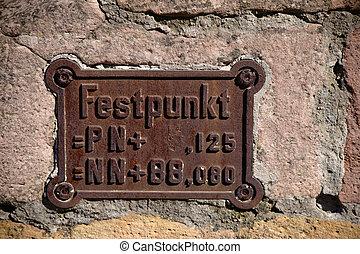 Benchmark on old cast iron