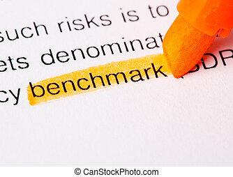 benchmark word