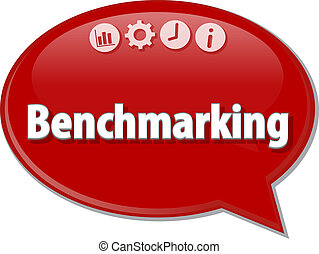 Benchmarking   Business term speech bubble illustration