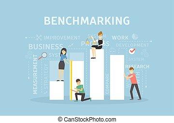 Benchmarking concept illustration.