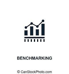 Benchmarking icon. Premium style design from business management icon collection. Pixel perfect Benchmarking icon for web design, apps, software, print usage