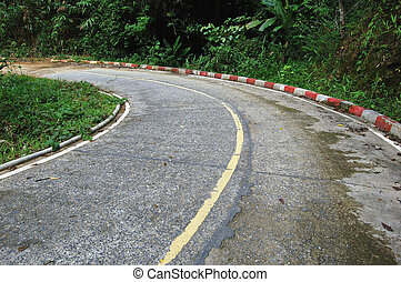 Bend in a Thai country road