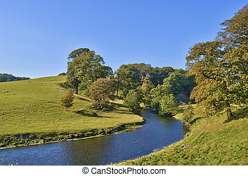 Bend in the River Bela - a bend in the River Bela at Dallam...