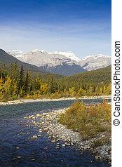 Bend of Snaring River in Jasper National Park