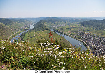 Bend of the Moselle rover near Bremm, Germany