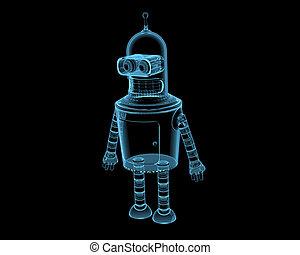 Bender (3D xray blue transparent)