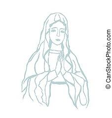bendijo virgen maría, retrato