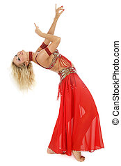 Bending belly-dancer