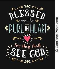 bendito, ser, el, puro, en, corazón