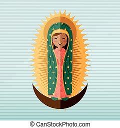 bendito, virgen, diseño