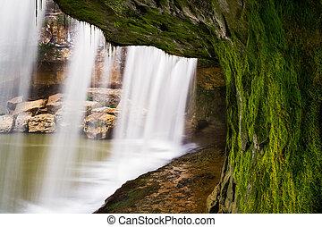 Beneath Cataract Falls - Indiana's Upper Cataract Falls...