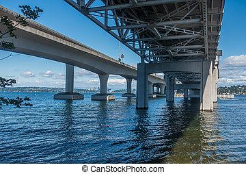 Beneath Highway Bridge