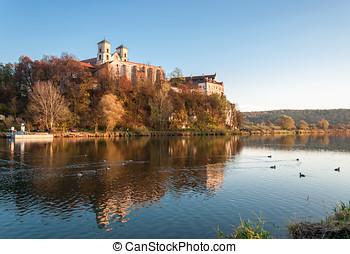 Benedictine abbey in Tyniec in fall, Krakow, Poland -...