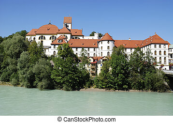 Benedictine Abbey - St. Mang's abbey in F?ssen (Bavaria,...