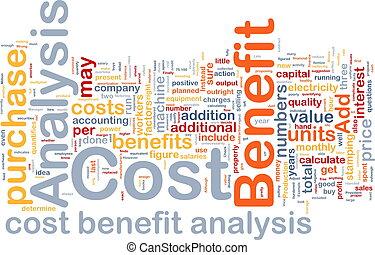 benefício, conceito, custo, análise, fundo