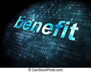 benefício, concept:, fundo, negócio, digital