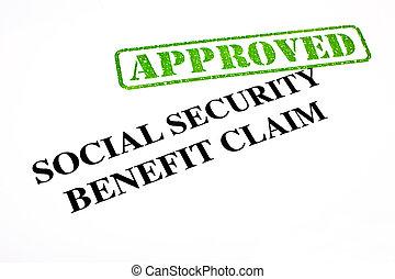benefício, reivindicação, segurança, aprovado, social