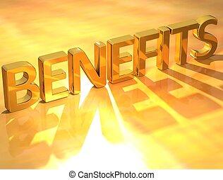benefícios, ouro