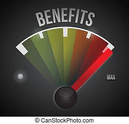 benefici, a, il, max, illustrazione, disegno