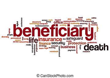 beneficiary, woord, wolk