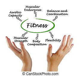beneficios, de, condición física