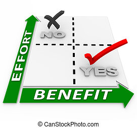 beneficios, matriz, contra, allocating, esfuerzo, recursos