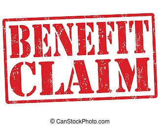 Benefit claim stamp - Benefit claim grunge rubber stamp on ...