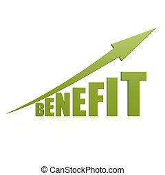 Benefit green arrow
