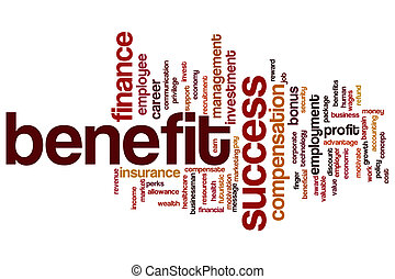 Benefit word cloud