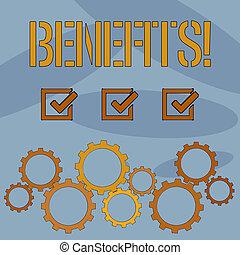 benefits., aid., vantagem, rendimento, texto, mostrando,...